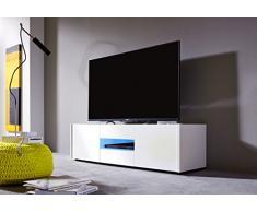 Mobile basso trendteam 1569-318-01 TV Imola, 130 x 37 x 39 cm, in bianco brillante