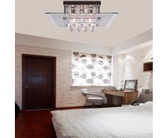 Saint Mossi® Cristallo moderna Droplet goccia della pioggia lampadario luci a filo soffitto per Soggiorno Camera da letto in piazza design con Chrome Piastra a soffitto