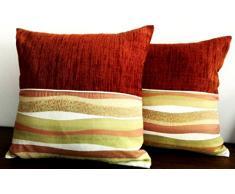 Cuscini d'Arredo Artigianali per Divani e Poltrone in cotone per la Casa - Adatti a Cucina, Soggiorno, Sala e Camere da letto
