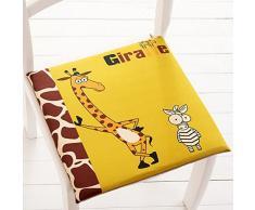 Koala Superstore Moda Stile Biancheria da Pranzo Sedia da Auto Studente Sgabello Cuscino Creativo Giraffa Fredda
