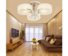 Moderna lampada da soffitto minimalista camera da letto personalità creativa decorazione soggiorno sala da pranzo elegante lampadario rotondo in acrilico