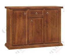 Credenza, stile classico, in legno massello e mdf con rifinitura in noce lucido - Mis. 120 x 40 x 88