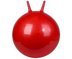 JW Palla per Esercizi Palla da Yoga Palla da Palestra Palla di Esercizio con Maniglia, 65cm Anti-Burst Extra Thick Gym Ball Chair con Pompa - Yoga/Pilates/Fitness/Pregnancy & Lavoro (Color : Red)