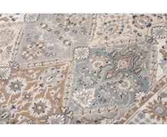 Tapiso Tappeto Salotto Orientale Collezione Dubai – Colore Grigio Disegno Geometrico Tradizionale Persiano – Qualità Oeko-Tex – Diverse Misure S-XXXL