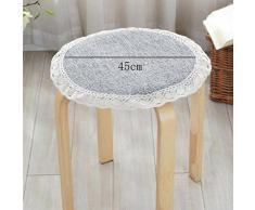 Cuscino KKY-ENTER tessuto grigio antiscivolo solido di colore Cuscino rotondo Mat rotonda Sgabello Mat sedia stuoia pranzo Cuscini antiscivolo Cuscino Diametro: 45cm