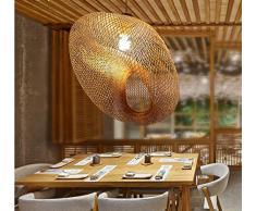 TYDXSD Giardino Soggiorno Camera da letto semplice lampada teahouse ristorante studio di bamboo naturale lampadario balcone lampada Lampade a mano 60*45cm