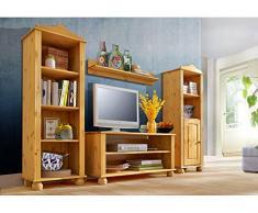 LifeStyleDesign 3002544 Ella - Mobile TV, 45 x 40 x 95 cm, in legno di abete oliato e cerato