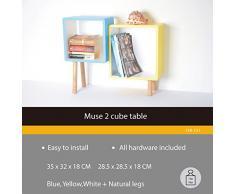 2 Cube mensola in legno libreria scaffale Mensola parete del cubo CD libreria in piedi con scaffali (13A -121)