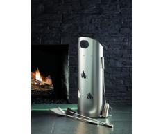 Kamino-Flam Set accessori camino da 3 pezzi, altezza ca. 58,5 cm, set camino in acciaio inox composto da paletta, scopino e attizzatoio