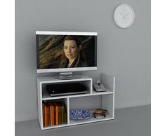 Alphamoebel - Parete attrezzata soggiorno Carica, colore: Bianco
