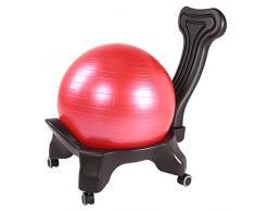 Madeinely Sedia ergonomica per scrivania con Supporto lombar Classic Balance Ball Chair - Stabilità per Esercizi Yoga Ball Premium Ergonomic Chair per casa e scrivania con Pompa ad Aria