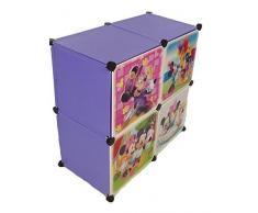 Sistema Di Scaffalature Armadio Vestiti Vivaio Di Mensola Guardaroba Mobili Bambini Armadio - 4 lilla