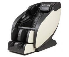 Poltrona massaggiante WELCON Prestige II – Poltrona massaggiante 3D a 5 stelle per casa con Zero Gravity, funzione di calore e 6 programmi automatici