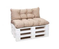 Cuscini per pallet, cuscini per divani in pallet, cuscini per sedie,cuscini per pallet economici, cuscini da giardino, cuscini impermeabili (beige, Cuscini:120x60cm)
