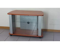 Mobile carrello porta tv Kleo 96 cristal ciliegio2