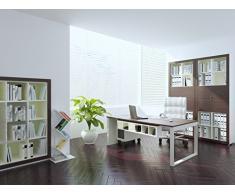 ROOT Libreria - Scaffale per libri - Mensola prospetto - Scaffale per ufficio / soggiorno dal design moderno (Bianco)