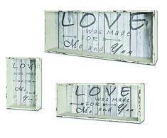 HAKU Möbel 27999 Set di 3 scaffale, 78 x 32 x 16 cm, bianco/vintage