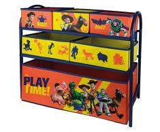 URBN Toys, scaffale a 6 cassetti, in metallo, motivo Disney e Marvel, 65 x 28 x 63 cm, scatole per la conservazione dei giocattoli, 3 opzioni disponibili Toy Story