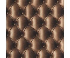 Cioccolato effetto pelle imbottito imbottitura Chesterfield divano sfondo 3D immagine