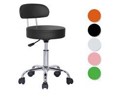 SixBros. Office Sgabello Imbottito per Ufficio Studio Medico Nero - M-95027X/2129