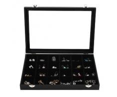 Songmics Natale Regalo portagioie scatole per gioielli scatola custodia box scatola anello JDS303
