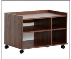 Relax e Design Mobile Carrello Porta TV, Stampante, Hi-Fi, ed Altro, Vari Colori, H.49 L.74 P.44 (Noce)