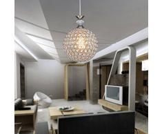 Moderno lampadario di cristallo semplice, lampadari a soffitto, studio / ufficio, ristorante, cucina / sala da pranzo / bar (Round)