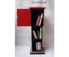 "'Retro Vintage memoria armadio""Postal - Rosso/Nero"