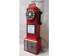 "'Retro Vintage aufbewahrung armadio/CD DVD""inglese nostalgisches Cellulare - Rosso"