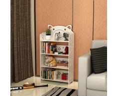 CJH Quattro strati della libreria per bambini scolpita in modo semplice Libreria Scaffale a combinazione libera Moderno minimalista per lo studente Living Landing Frame