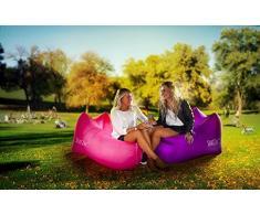 SeatZac- Pouf a Sacco, Colore Pink, 40 x 18 x 12 cm, SZ00003