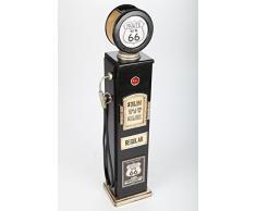 Point-Home - Mobiletto Porta CD, Aspetto retrò, a Forma di Pompa di Benzina, con Luce