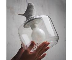 bayc Heer Uccello lampadario industriale lampada E27 lampada a sospensione sala da pranzo lampada lampadario soggiorno moderno in Bianco