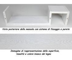 Una MENSOLA Design legno a Parete Salotto Mobili Libreria BIANCA Con Venature ESSE BI