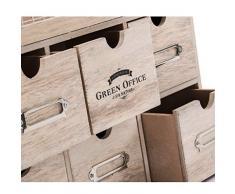 Indhouse - Scaffale per spezie vintage in legno e metallo
