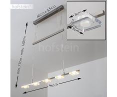 Lampada a sospensione LED Roggan - Lampadario Design Moderno - Efficienza LED per interni - Sospensione Altezza Regolabile - 2700 Kelvin 1600 lumen totali