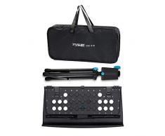 Festnight Kit di scaffalature portatili pieghevoli per scaffali Kit regolabile in altezza a 3 livelli con borsa per il trasporto nero