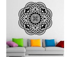 Adesivo Murale Mandala Yoga Adesivo Murale Impermeabile Modello Indiano Decorazioni Per La Casa Mobile Art Design In Vinile 66 X 66 Cm