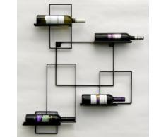 """Scaffale per vini Rastrelliera portabottiglie in metallo bottiglia di supporto a parete 90 centimetri """"Black Line"""""""