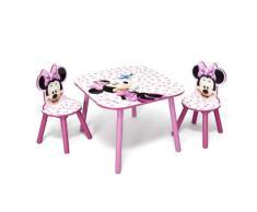 Disney - Set Tavolo con 2 sedie per bambini Minnie Mouse