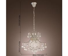 ALFRED Moderno lampadario di cristallo con 6 luci, moderna luce di soffitto, Camera da letto, Soggiorno Lampadario con 6 luci