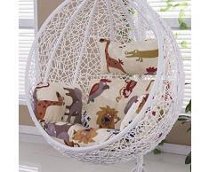 BLSTY Poltrona Pensile Cuscino de Sedile Cuscino Sedia, Allaperto Ergonomico Cuscini Schiena per Hanging Egg Chair Amaca Cuscino Nessuna Sedia-E-Convenzionale