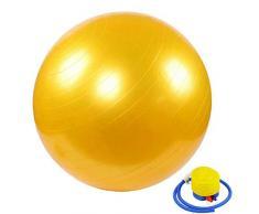 YANGHUI,Giallo palla,Ball Chair, Yoga Pilates Balance Ball con Pompa Palla da Gravidanza Il Parto Ginnastica maternità Travaglio e Yoga 60cm