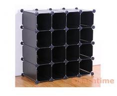 Generic ycuk 2150529-5 <1&3205*1> TAND colore: random, 16 pezzi a incastro a forma di cubo scaffale organiser per scarpe con espositore, colori: casuali Zappa-ORGANIZER per aggraffatura