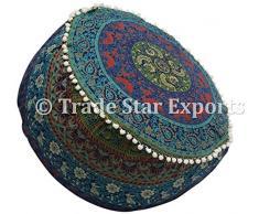 Indan mandala pouf copertina, cotone etnico pouf cuscino decorativo, poggiapiedi ottomano pouf copertura, hippie Floor Seating boho Decor Pattern4