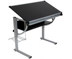 Infantastic Scrivania tavolo per cameretta ragazzi bambini regolabile ca. 112/64/58-78 cm colore nero