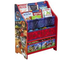 Delta Children Mobile Porta Giocattoli/Libri, Holz, Red, 50.49x26.49x67.99 cm