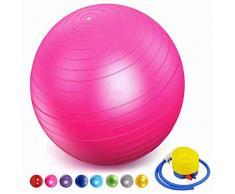 HUANGXIU Ball Chair, Yoga Pilates Balance Ball con Pompa Palla da Gravidanza Il Parto Ginnastica maternità Travaglio e Yoga,rosa,65cm