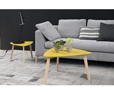 AC Design Furniture 60356 tavolino da salotto, piano in legno, laccato curry