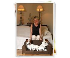 Designer - Divano per cani, colore: cioccolato in ecopelle scamosciata, 3 misure